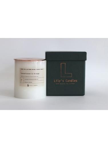 Lily's Candles Sandal Ağacı & Portakal Mermer Serisi %100 Doğal Mum Renkli